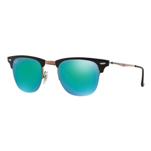 Ray-Ban Ray Ban Clubmaster Titanium Frame and Green Mirror RB 8056 1176/3R 49m