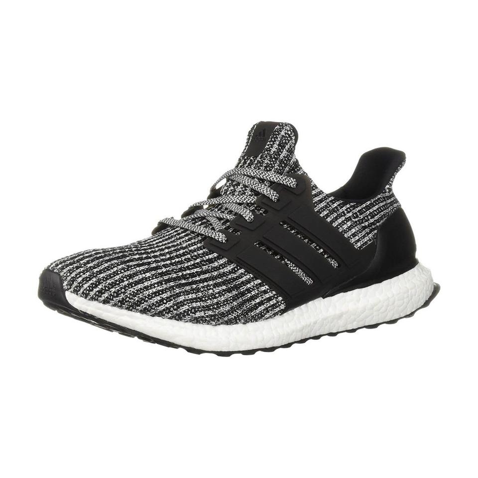 adidas Ultraboost Mens Running Shoes Black White US 8