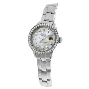 Rolex Ladies Rolex Oyster Perpetual Date 6516 Stainless Steel Diamond