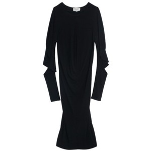 Saint Laurent Paris Midi Viscose Polyester Dress