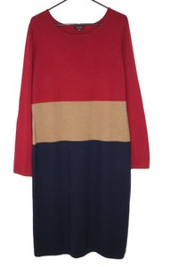 Maxi Dress by J. Peterman Wool Soft Color Block