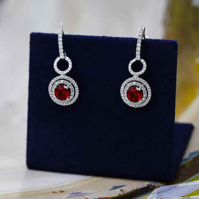 Item - 18k White Gold 18kt Fancy Drop with 0.59ct Total Earrings