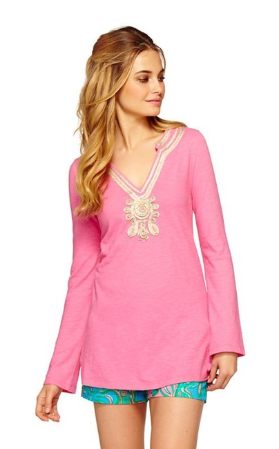 Item - Pink Gold Emerson V-neck Tunic Size 10 (M)