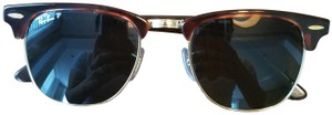 Ray-Ban Polarized Ray-Ban Classic Clubmaster in Tortoise/Gold