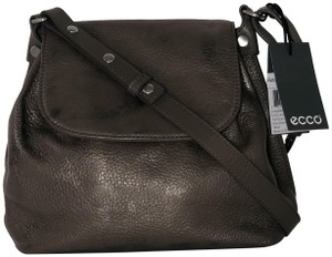 Ecco Fortine Metallic Leather Pebbled Leather Cow Leather Cross Body Bag