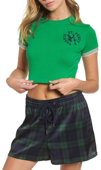 Item - Green Cropped Vintage Sleeve 57582402 Tee Shirt Size 2 (XS)