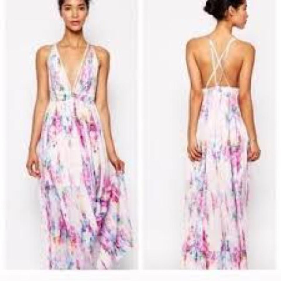 Oh My Love Carrie Watercolor Long Casual Maxi Dress Size 4 S Tradesy