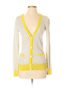 Theory Sweater Cashmere Cotton Color-blocking Cardigan
