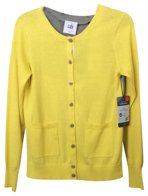 Item - Yellow and Gray #3010 Belle Cardigan Size 8 (M)