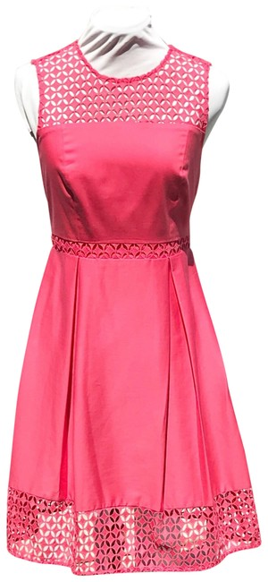 Item - Pink Salmon Fit-and-flare Mid-length Work/Office Dress Size Petite 6 (S)