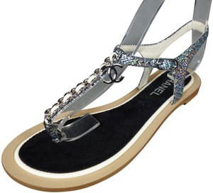 eb5f60a70eb42 Women s Silver Chanel Shoes - Up to 90% off at Tradesy