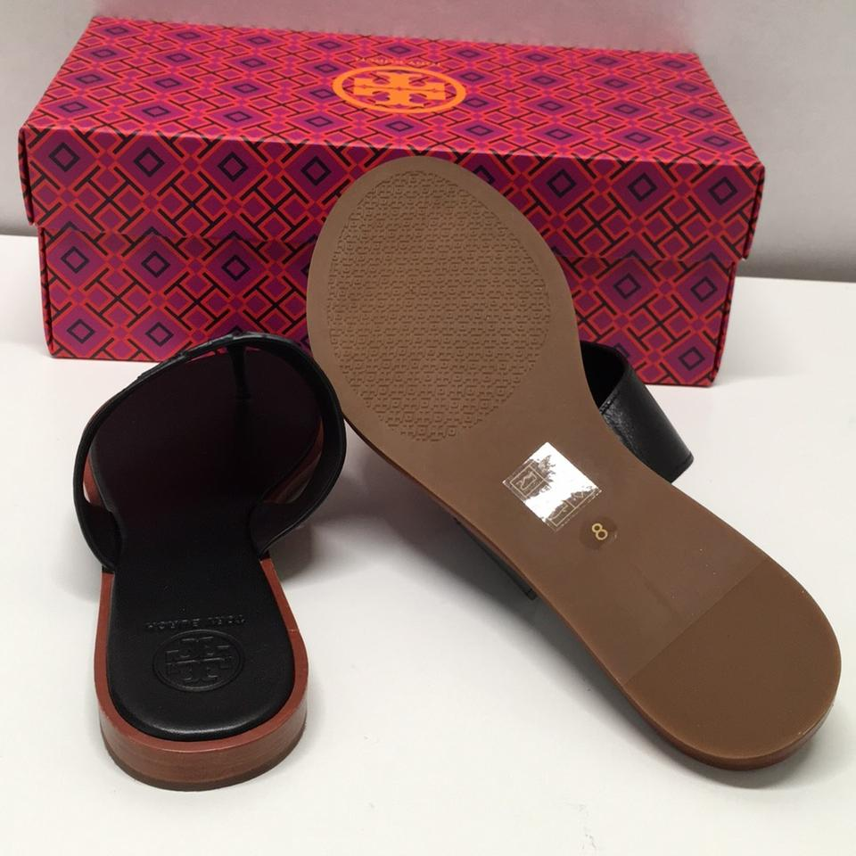 80ae5f031412 Tory Burch Black Jamie Full Logo Thong Sandals Size US 8 Regular (M ...