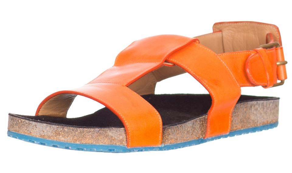 Marc Orange Jacobs Orange Marc Men's Leather Cork Sandals 9e1912