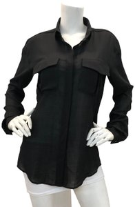 Anthony Vaccarello Shirt Pockets Button Down Shirt Black