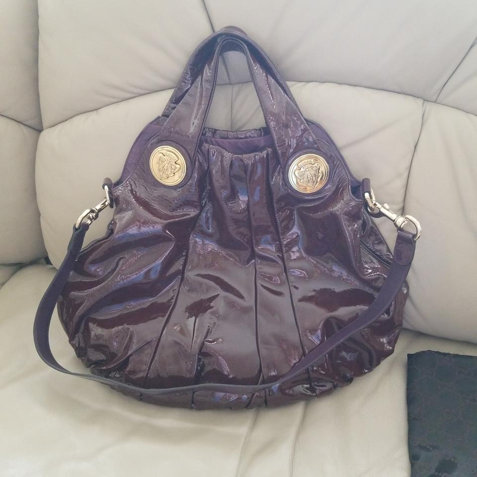 be1eb3f31cd Gucci Hysteria Top Handle Plum Patent Leather Shoulder Bag - Tradesy