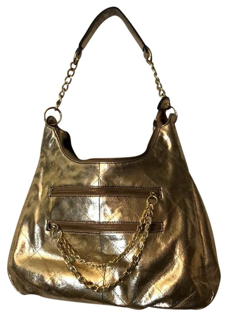 Item - Shoulder Metallic Gold Leather Hobo Bag