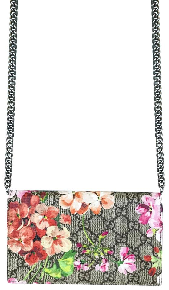 acfedba9277 Gucci Gucci Multi Rose GG Blooms Supreme Chain Wallet Image 0 ...