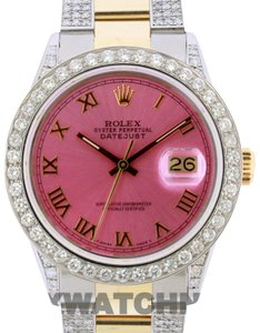 Rock and Roll Cowgirl Free Shipping 5ct 36mm Datejust Gold Ss with Box and Appraisal Watch