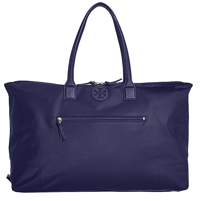 Item - Ella Handbag Packable Overnight Satchel Purse Navy Nylon Weekend/Travel Bag