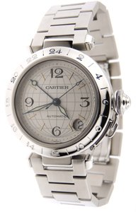 Cartier Cartier Pasha C GMT Globe Stainless Steel Automatic 35mm Date Watch BP