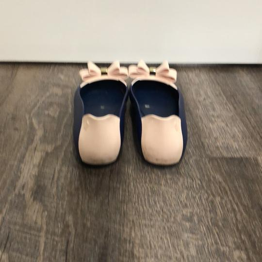 Melissa Navy and Pale Pink Flats