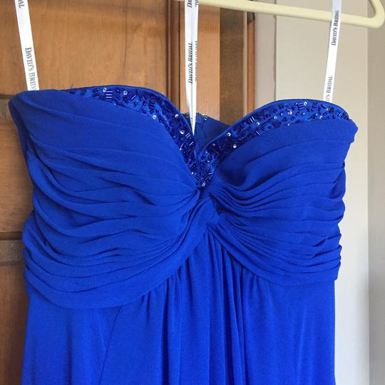 Preload https://img-static.tradesy.com/item/23899535/david-s-bridal-cobalt-blue-chiffon-with-beaded-satin-traditional-bridesmaidmob-dress-size-6-s-0-0-540-540.jpg