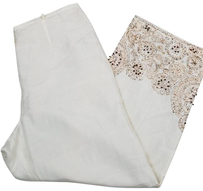 Preload https://img-static.tradesy.com/item/23899576/due-per-due-brown-and-ivory-silk-and-linen-embellished-capris-size-10-m-31-0-5-650-650.jpg