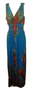 blue/multi Maxi Dress by Other