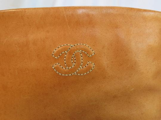 Chanel Brown Tan Boots