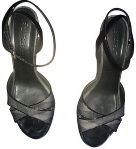 Burberry charcoal Wedges