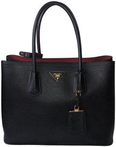 Prada Tote in Black and Red
