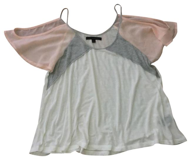 Preload https://img-static.tradesy.com/item/23899718/lucca-couture-white-gray-and-pale-pink-cold-shoulder-urban-outfitters-tunic-size-4-s-0-1-650-650.jpg