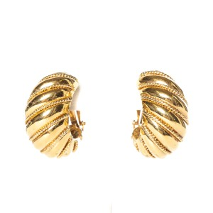 St. John St. John gold-tone clip-on earrings