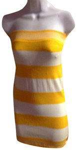 Other short dress yellow,white on Tradesy
