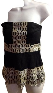 Other black tan Halter Top