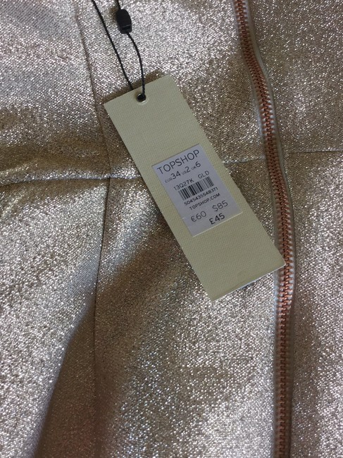 Topshop Strapless Party Top Gold