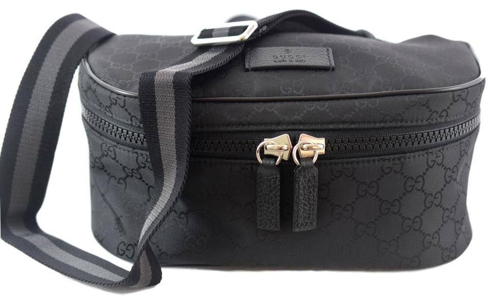 27a42abcef1 Gucci 449182 Belt Zip Black Gg Nylon Canvas Backpack - Tradesy
