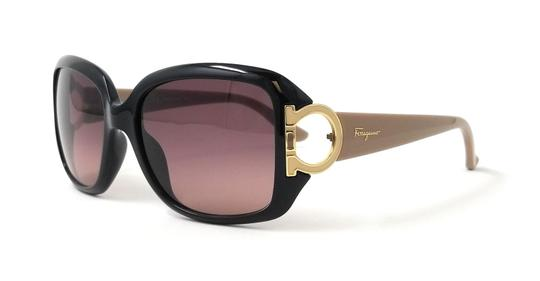 Salvatore Ferragamo Salvatore Ferragamo Sunglasses SF666S 001 Black Sunglasses