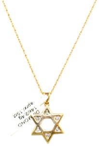 Other 14K Yellow Gold Diamond Star Of David Necklace