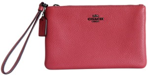 Coach Washed Wristlet in Red
