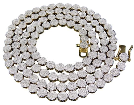Preload https://img-static.tradesy.com/item/23899907/jewelry-unlimited-yellow-gold-10k-pave-6mm-genuine-diamond-cluster-chain-24-inches-necklace-0-1-540-540.jpg