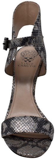 Vince Camuto Snakeskin Leather Silver Sandals