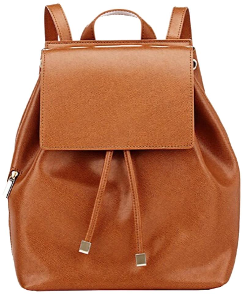 ab959e8744 Barneys New York 234567 Cognac Saffiano Leather Backpack 28% off retail