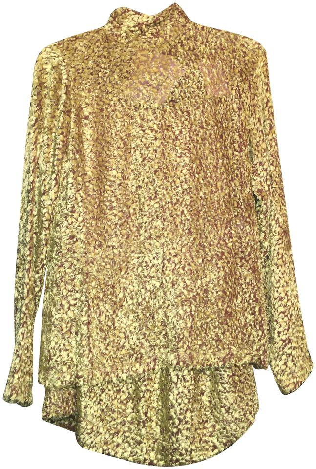62f9f60094ca Céline Yellow Silk Velvet Top And Skirt Size 2 (XS