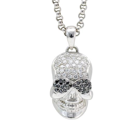 Preload https://img-static.tradesy.com/item/23899987/black-and-grey-skull-pendant-with-diamonds-in-18k-white-gold-on-24-chain-necklace-0-0-540-540.jpg