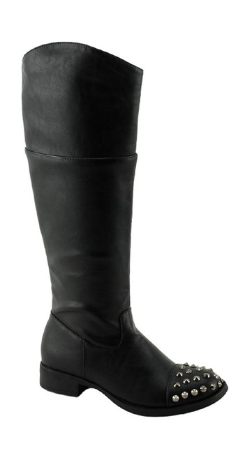 Red Circle Footwear Black Chava Tall with Studs Boots/Booties Size US 7 Regular (M, B) Red Circle Footwear Black Chava Tall with Studs Boots/Booties Size US 7 Regular (M, B) Image 1