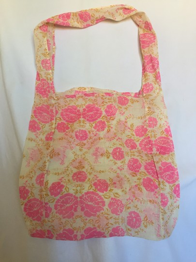 Free People Tote in Pink/Cream Black/White