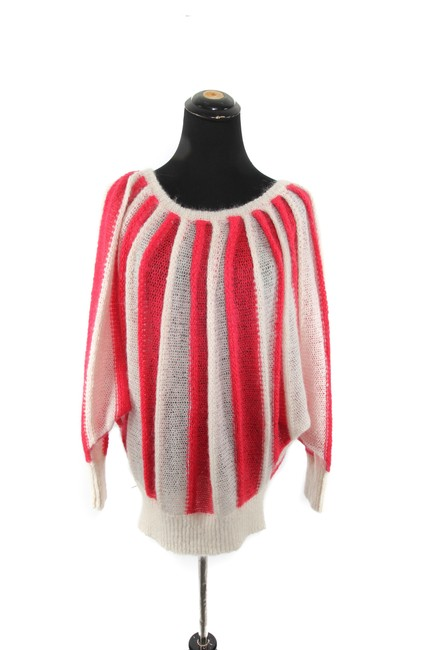 Preload https://img-static.tradesy.com/item/23900153/tsumori-chisato-red-and-cream-mohair-striped-sweaterpullover-size-6-s-0-0-650-650.jpg