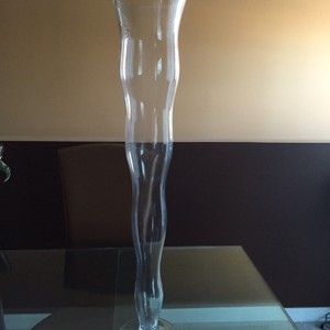 Clear Wavy Vases - 28 Inch (Total 10) Reception Decoration