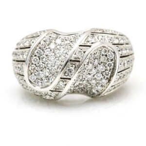 Andreoli Andreoli Diamond Dome Ring in 18k White Gold